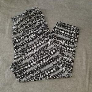 Pants - Black & White Palazzo Pants